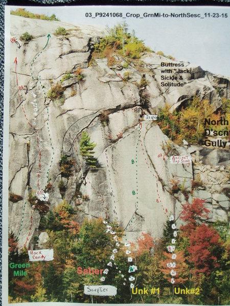 Rock Climbing Photo: Saber Slab -Green Mile to Unk#2