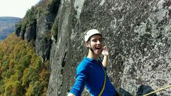 Rock Climbing Photo: Myself loving the position somewhere on Arm and Ha...