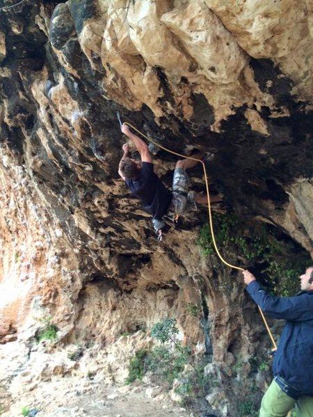Rock Climbing Photo: Travel Room (7b)