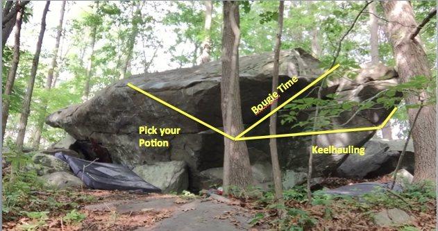 Rock Climbing Photo: Boulder 1 route information