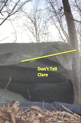 Rock Climbing Photo: route info for boulder 1