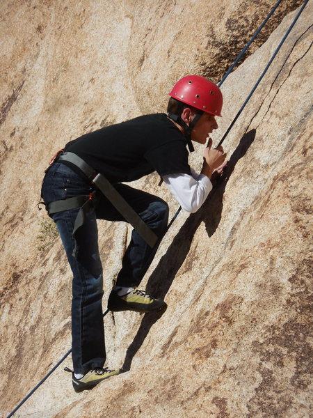 Rock Climbing Photo: Braille Institute climber on Hogback.