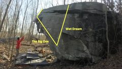 "Rock Climbing Photo: route info for overhang. ""Wet Dream"" als..."