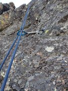 Rock Climbing Photo: A picture just to show the large amount of lichen ...
