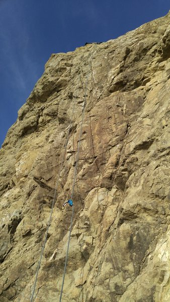 The rock was nice and sunny today, cool seabreeze made it a great day to climb.