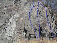 Rock Climbing Photo: Catfish Cliff Right