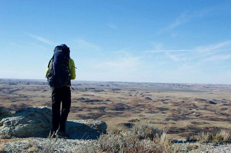 Looking out on the expanse of North Dakota