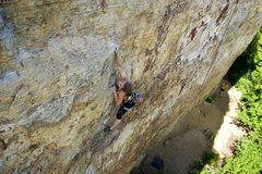 Rock Climbing Photo: Leah making the throw