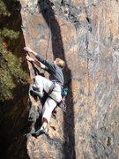 Rock Climbing Photo: Jean on Knife Edge Arete