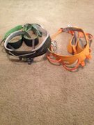 Rock Climbing Photo: Black Diamond Focus Harness XL Green Petzl Hirundo...