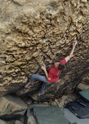 Rock Climbing Photo: This is Zach climbing yet another boulder in a los...