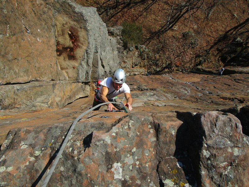 Finishing up the steep section of Sickle