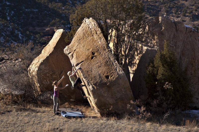 Rock Climbing Photo: grassy landings = good clean fun