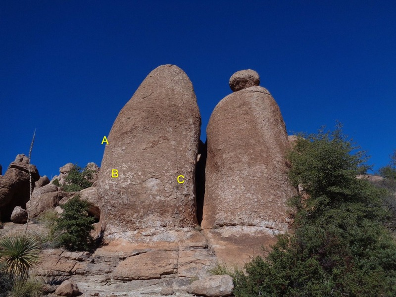 Rock Climbing Photo: Anybody know these routes? These are about 100 yar...