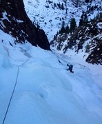 Rock Climbing Photo: Cruising on the upper part of the route.