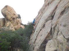 Rock Climbing Photo: Liebacking on Proud Mary