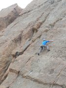 Rock Climbing Photo: Into the business on Proud Mary.
