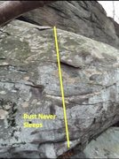 Rock Climbing Photo: route info for Rust Never Sleeps V3