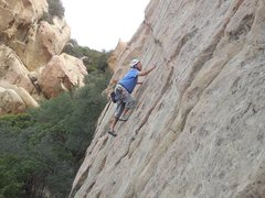 """Rock Climbing Photo: Working up the initial slab on """"Proud Mary.&q..."""