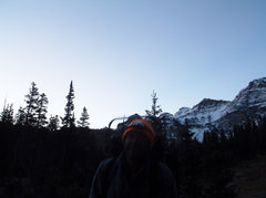 Rock Climbing Photo: pre-dawn glow, nearing Lower Blue Lake
