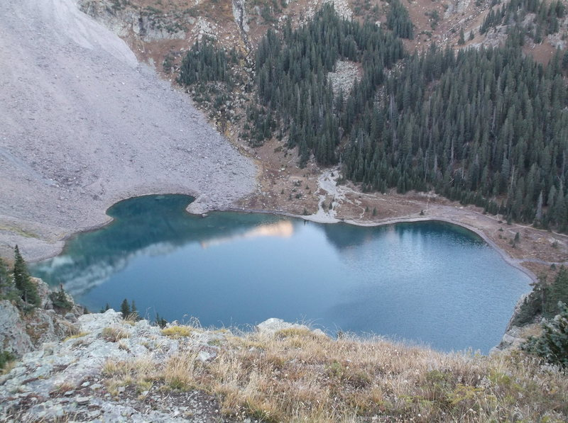 Rock Climbing Photo: looking down on Lower Blue Lake