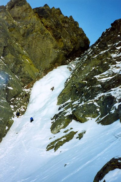 Climbers on Pinnacle Gully.