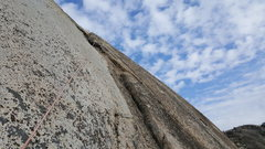 Rock Climbing Photo: Looking up from the 1st set of bolt anchors on Fri...