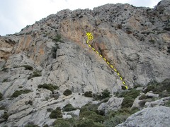 Rock Climbing Photo: The Center crag of 3 Ilots.
