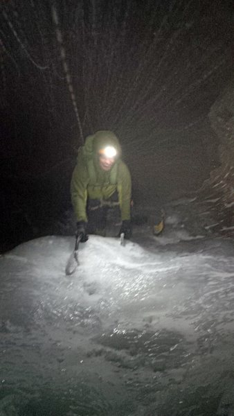 Rock Climbing Photo: Phil Schuld during an almost full moon ascent
