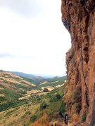 Rock Climbing Photo: Elad up on the crux!