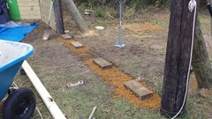 Rock Climbing Photo: I used blocks as the foundation. Used sand underne...