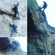 Rock Climbing Photo: Olivier Plamondon getting the RP late in the seaso...