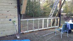 Rock Climbing Photo: Kickboard framing done. Add plywood then onto the ...