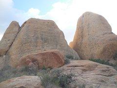 Rock Climbing Photo: Pangea Wall in an approaching storm.