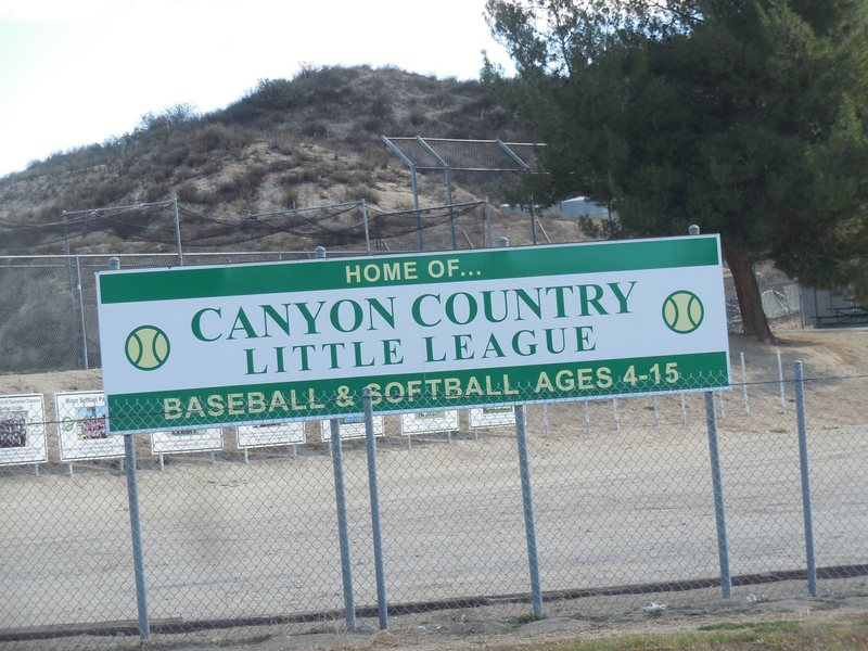 Canyon Country Little League Park on Sierra Highway on the way to Texas Canyon.