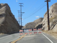 Rock Climbing Photo: Vasquez Canyon Road closed due to a landslide in N...