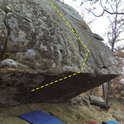 Rock Climbing Photo: Bat Boy Topo