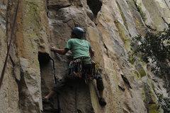 Rock Climbing Photo: Tricky start.