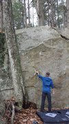 Rock Climbing Photo: Checking out the holds of this great line.