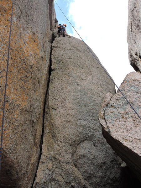 Most of the crack with Alex at the top.