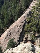Rock Climbing Photo: Lower Easy Street. Taken from the top of Downclimb...