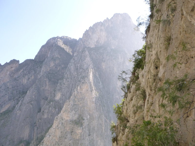 The view from the spires in El Potrero Chico.