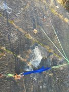 Rock Climbing Photo: Anchor options for the pillar; bring a cordelette ...
