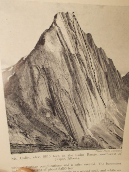 Mt Colin, Alberta<br> from Canadian Alpine Journal