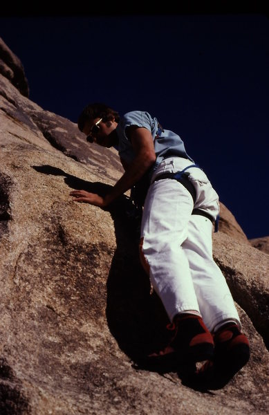Rock Climbing Photo: JT bouldering in PA's (still have them)