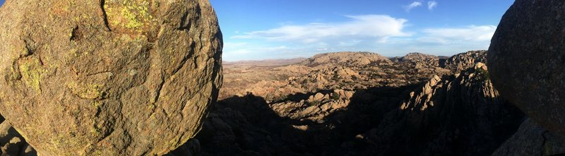 Rock Climbing Photo: View from the top of crap eyes