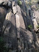 Rock Climbing Photo: Sirenos hand crack start.