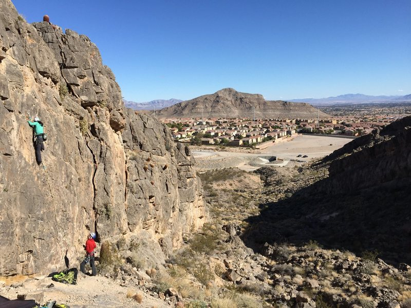 Rock Climbing Photo: Joanna crushing QuickDraw