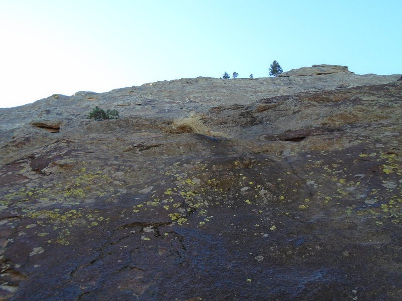 Rock Climbing Photo: Looking up from where I started the route. I went ...