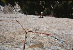 Rock Climbing Photo: Sea of Knobs pitch.  Photo taken by Eric Collins